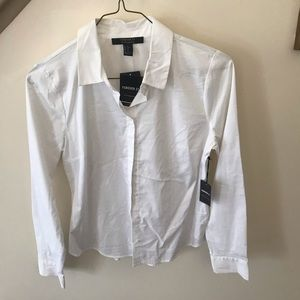 NEW Forever 21 white button down dress shirt sz XL